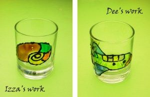 Glass Deco-simple idea to decorate glass' surface.