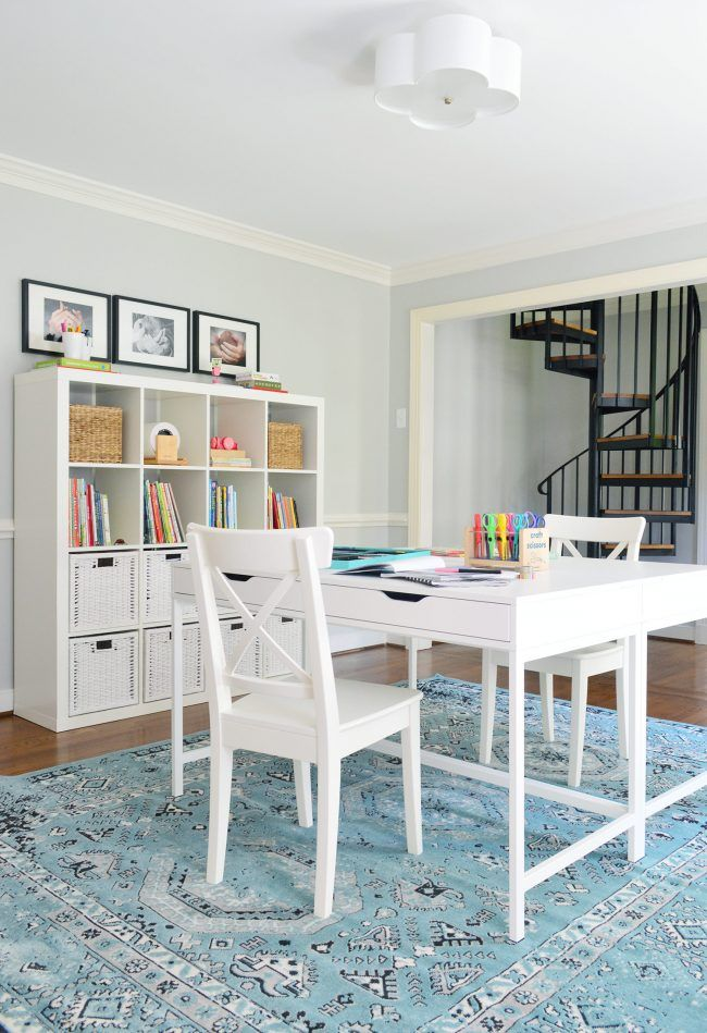 Young House Love   Easy Makeover: A Hardworking Homework Room   http://www.younghouselove.com