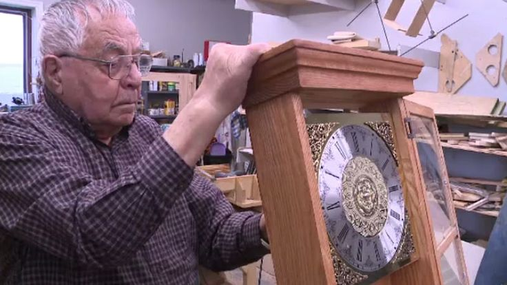 John L. Haley, 98, retired at the age of 66 and, 32 years later, he says he's happy to have plenty of time for his favourite hobby – making clocks. The retired maintenance supervisor figures he has made about 150 clocks since retiring. Click on the link to learn more http://atlantic.ctvnews.ca/n-s-clockmaker-98-donates-handmade-timepieces-to-support-special-program-1.1808618