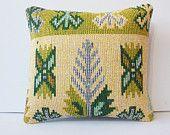 "16"" throw decorator pillow kilim burlap pillow cover accent native pillow case decorative throw contemporary cushion cover cream lime green"