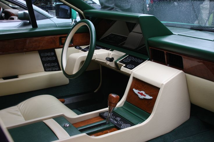 Incredible modernist interior from the Aston Martin Lagonda ('74-'90). Possibly the least reliable switchgear outside of an 80's Alfa, but it really did look incredible.