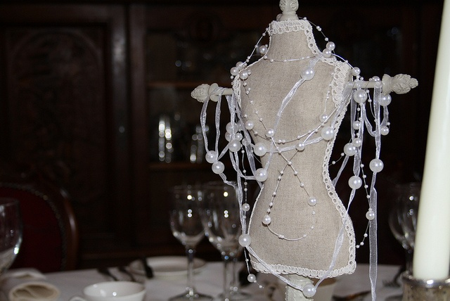 Mannequin as Unusual Wedding Table Centre Pieces by Passion for Flowers, via Flickr