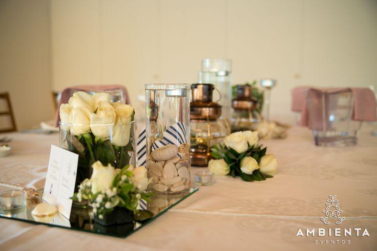 Decoração mesa dos noivos - tema: Praia