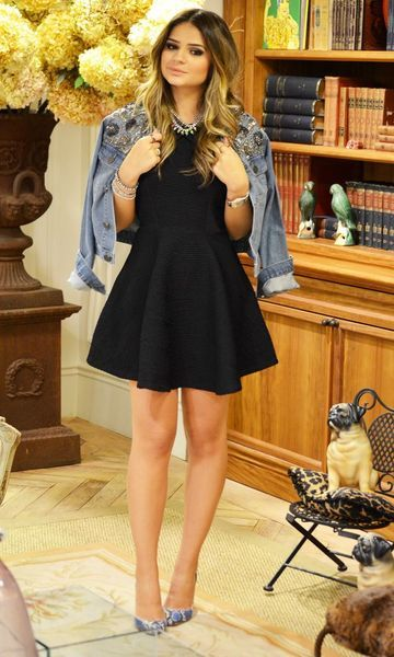 Look: Thássia Naves - Jaqueta Jeans Girlie