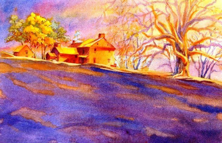 Wet Canvas Complementary Color Painting Landscape