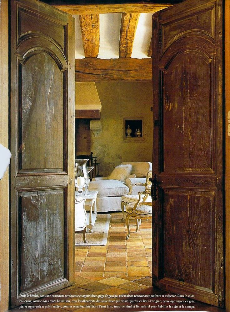 17 best ideas about old french doors on pinterest for French doors that both open