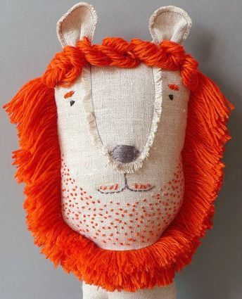 omg his 5 o'clock shadow is made of French knots.  {embroidery joy}