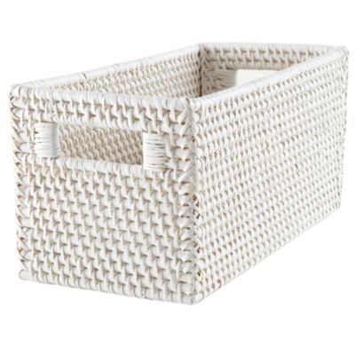 Rattan Small Changer Basket (White)  | The Land of Nod