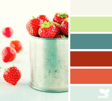Gorgeous strawberry pink/red! Where would you add a splash of this color in your home?