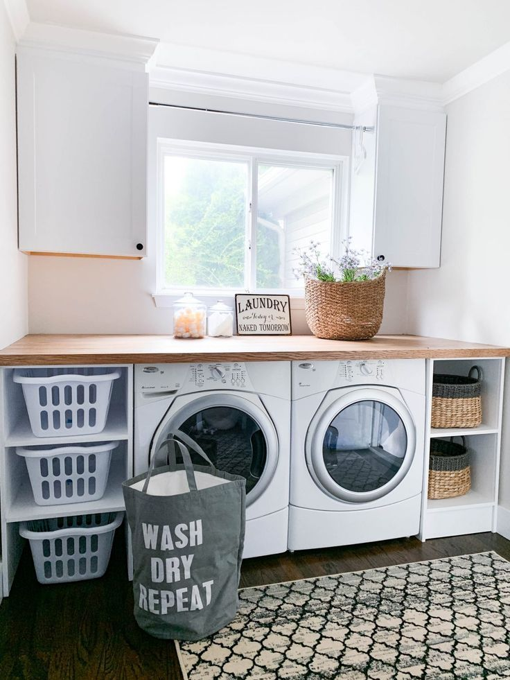 Modern Farmhouse Entryway Final Reveal Laundry Room Organization