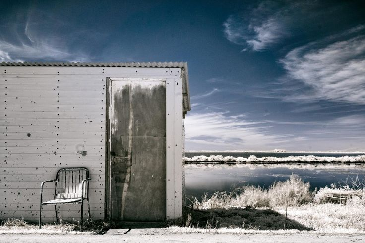 A Hut by the Lagoon (Digital Colour Infrared)