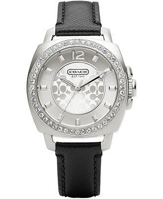 COACH MINI BOYFRIEND STRAP WATCH - Coach Watches - Handbags & Accessories - Macy's