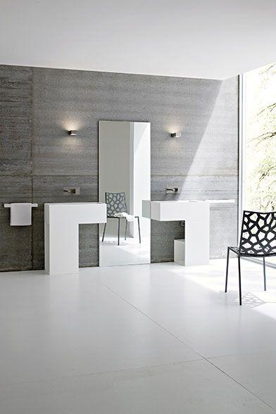 Lavabi bagno a parete o in appoggio, Piatti doccia e vasche da bagno in Korakril