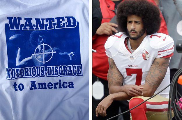 Buffalo Bills fans sell shirts of Kaepernick in their sights....