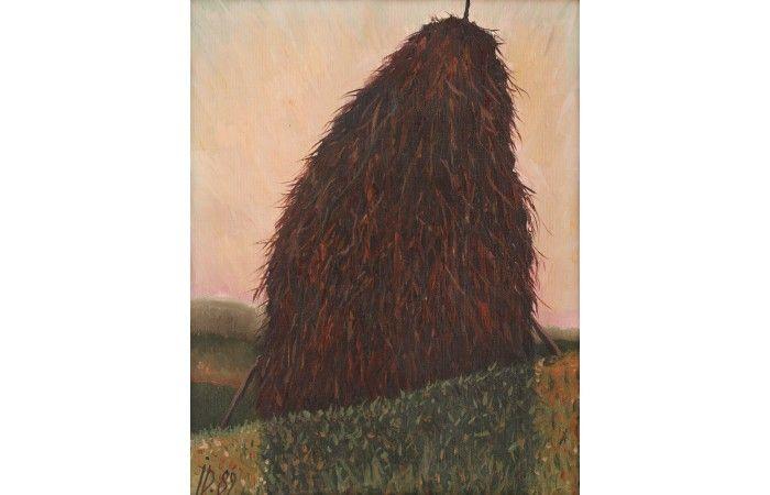 LOT 58  ION DUMITRIU Clay [1989] Oil on canvas 40 × 32 cm (15.7 × 12.6 inch) Estimate €800 - €1,200  #lavacow #contemporary #art #iondumitriu