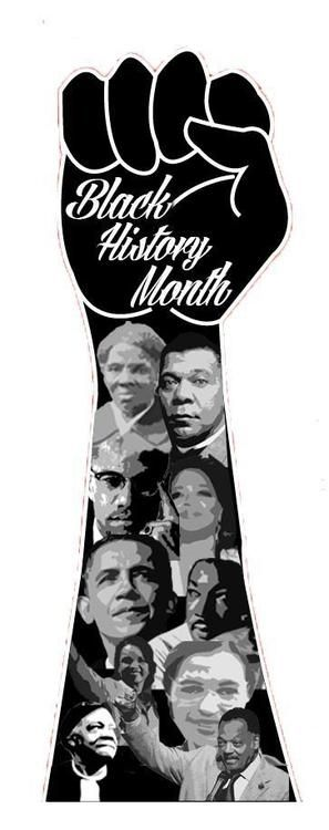 Black History Month poster or collage idea.