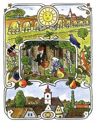 Josef Lada Kresba pro knížku F. Nechvátala Štěpnice - Podzim (nerealizováno)…