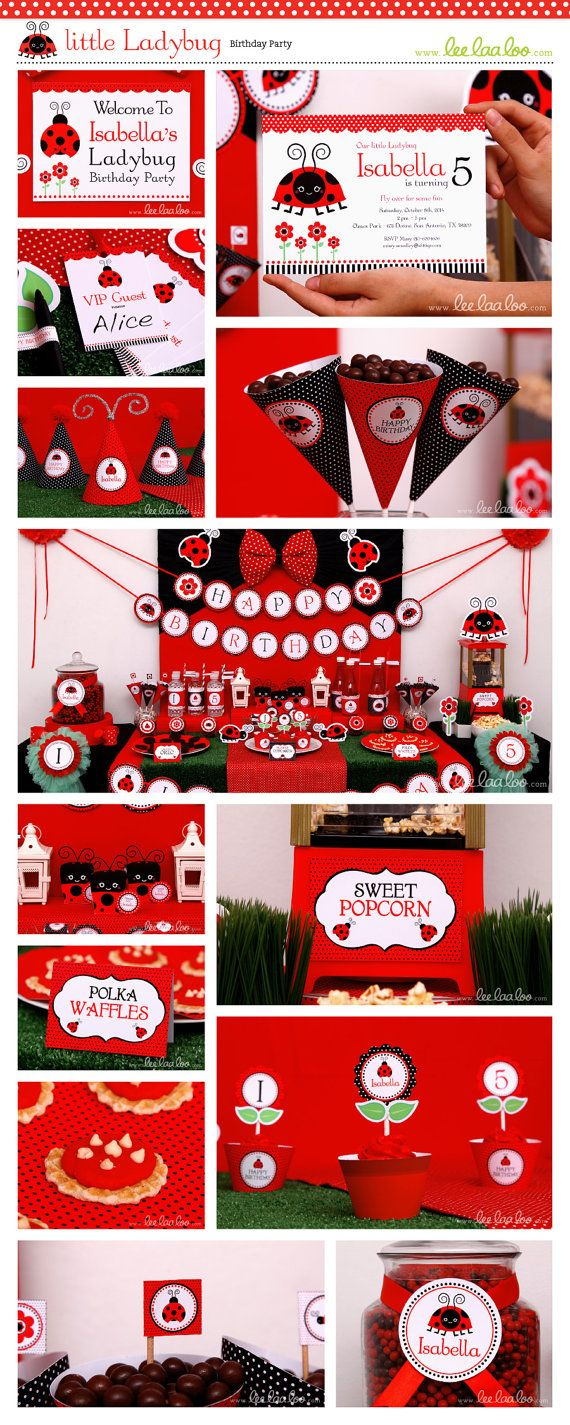 • Little Ladybug Birthday Party Theme • Shop Them Here:  https://www.etsy.com/shop/LeeLaaLoo/search?search_query=b89&order=date_desc&view_type=gallery&ref=shop_search ♥♥♥ Vendor Credits:  ♥ Party Styling: LeeLaaLoo - www.leelaaloo.com  ♥ Party Printable Design & Decoration: LeeLaaLoo - www.etsy.com/shop/leelaaloo Our YouTube channel for some DIY tutorials here: http://www.youtube.com/leelaaloopartyideas