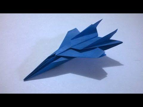 Como hacer un F-117 de papel  | Aviones de papel paso a paso (Muy faciles) - YouTube