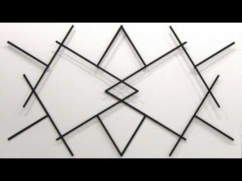 Kinetic object with 32 independently moving lines. Controlled by an integrated computersystem. The video shows some of the constantly changing ordered and random structures that appear and disappear. Dimensions: 4.20m X 2.80m. 2007 - 2010.