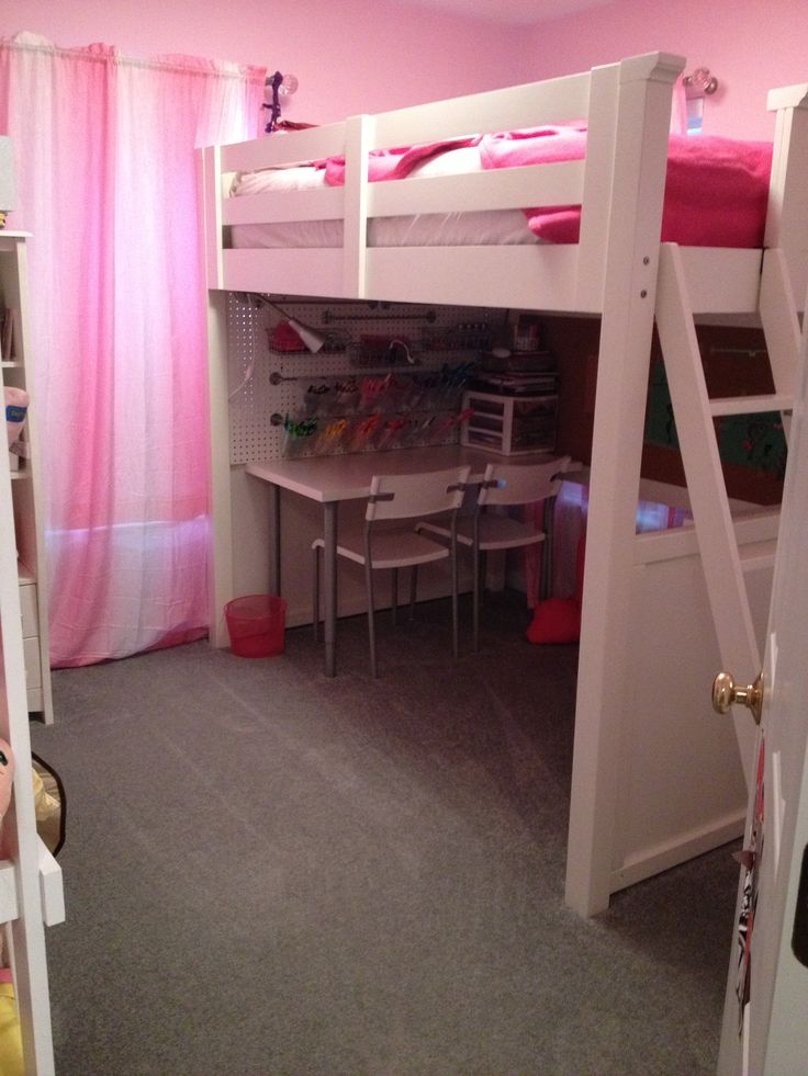 Small space solution 5 year old girl 39 s bedroom complete for Small room bed solutions