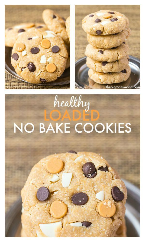 Loaded Healthy No Bake Cookies - The perfect lunch box treat or anytime snack! {gluten free, vegan} http://www.superhealthykids.com/loaded-healthy-no-bake-cookies/