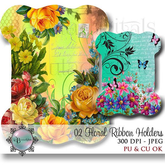 Floral Ribbon Lace Holders  Ribbon Storage  by Beauladigitals www.etsy.com/au/listing/262446095/floral-ribbon-lace-holders-ribbon?ref=listing-shop-header-1