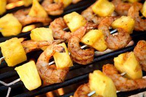 Hawaiian Grilled Coconut Shrimp Skewers