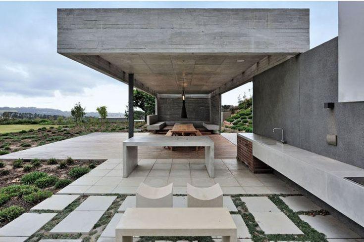 Moderner, schlichter Look für den Außenbereich