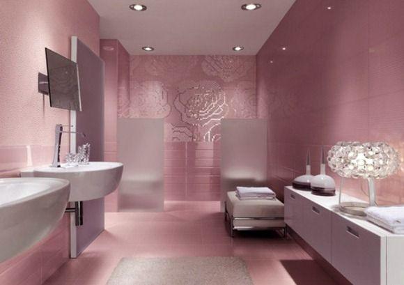 15 Modelos de baños color rosa para mujeres