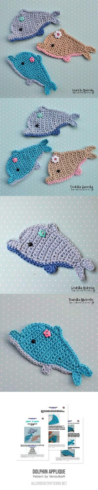 Dolphin Applique Crochet Pattern