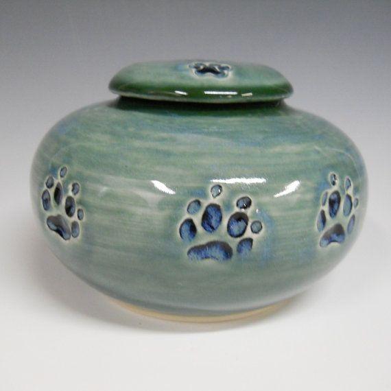 Dog Urn Pet Urn Blue Green and Dark Forest by celticsouljewelry, $68.00