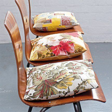 Des chaises aux coussins customisés