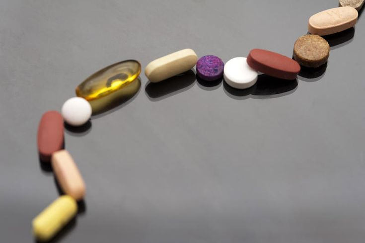 Free Stock Photo: various types of tablet arranged to form a trail - By…