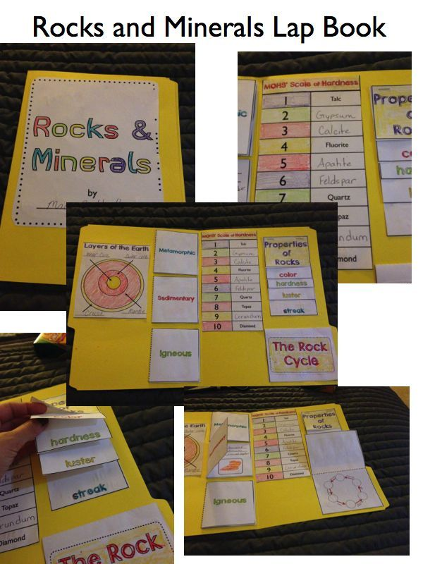 Everything Rocks and Minerals Unit….Lap book activity. Grades 3-5