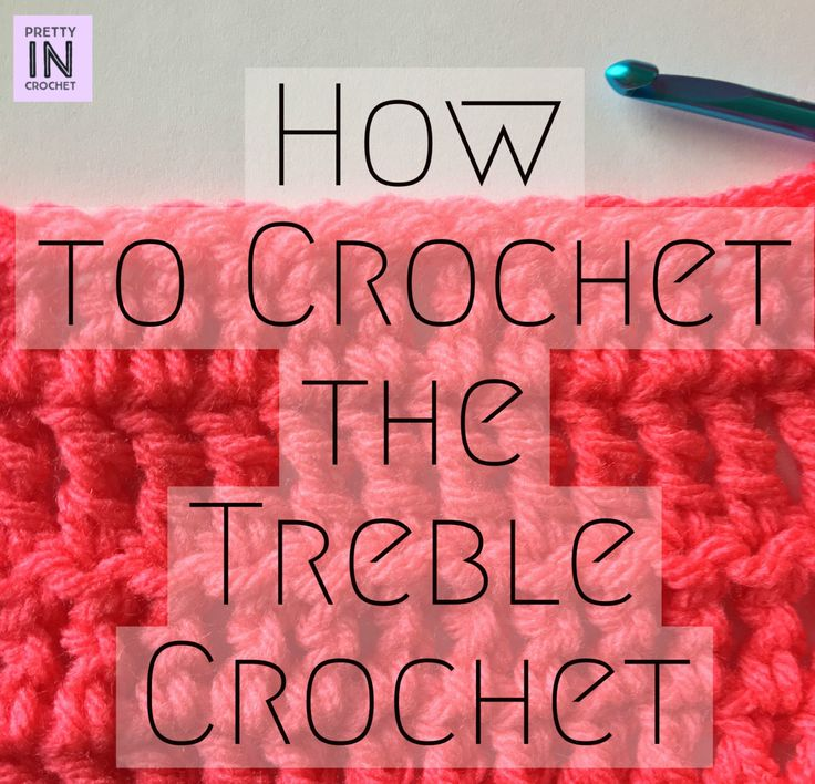 How to crochet the treble crochet stitch tutorial