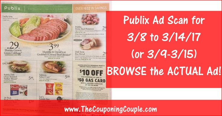 We are finishing up the Publix Matchups for 3/8 to 3/14 (3/9-3/15) but thought you might like to Browse the Actual Ad Scam NOW  :-) Here is the PUBLIX AD SCAN FOR 3/8 to 3/14 (3/9-3/15) ~ ALL 16 PAGES Click the Picture below to BROWSE the Publix Ad Scan ► http://www.thecouponingcouple.com/publix-ad-scan-for-3-8-to-3-14-17/  SHARING this POST Really Helps make it possible for us to continue to bring you these GREAT EARLY Ad Scans!  Visit us at http://www.thecouponingco