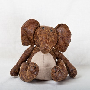 Distressed Leather Doorstop, Elephant, Rabbit or Turtle