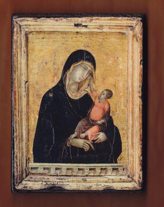 Madonna and Child Duccio di Buoninsegna.FREE SHIPPING by teogonia