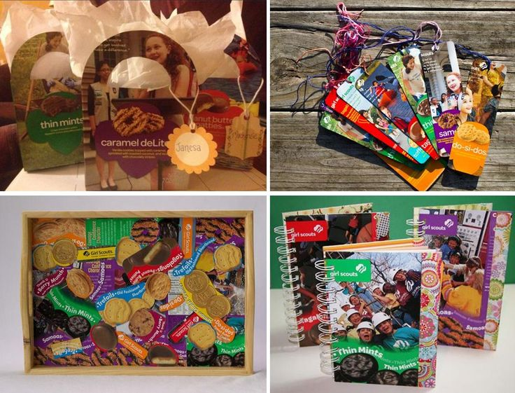 girl scout cookie craft ideas get crafty recycle those cookie boxes to make a thank you 6633