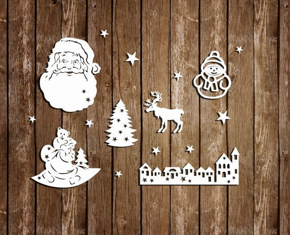 Papercut for Window Christmas Papercut Templates by DreamyMarimmy
