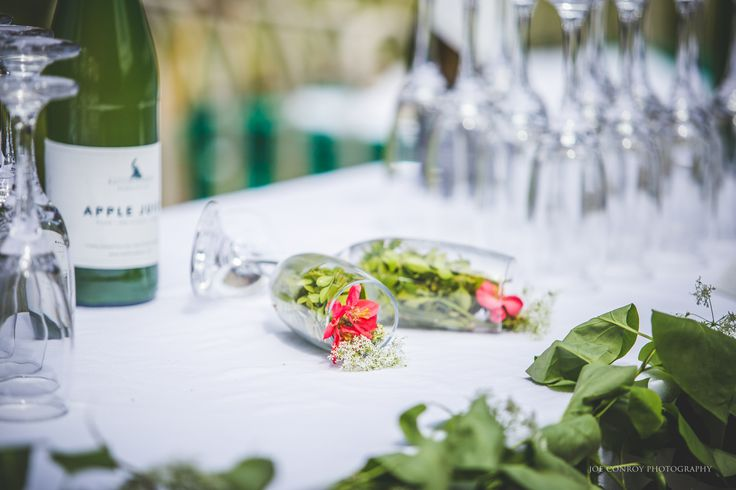 Ballintubbert Gardens and House produce our own apple juice from the apples in our orchard. It is a perfect addition to a drinks reception. Photograph by Joe Conroy Photography