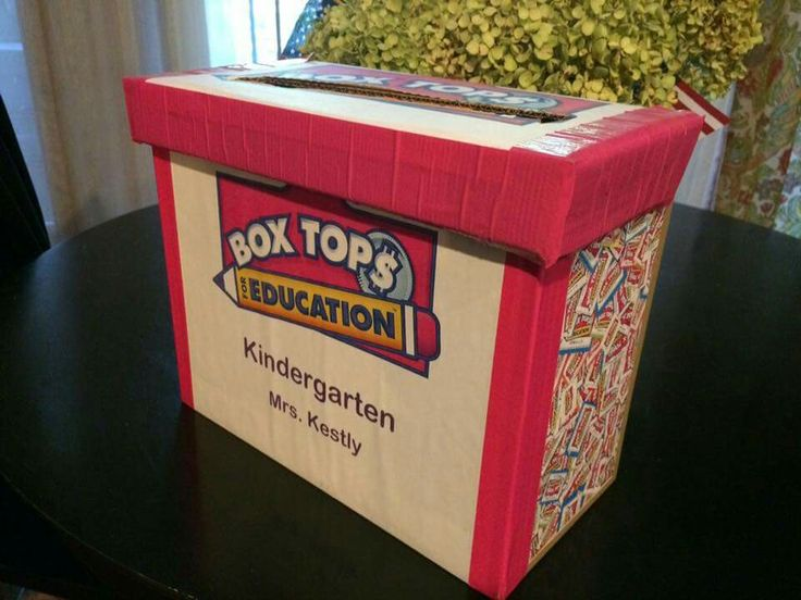 Box Tops Container Box Tops 4 Education Pinterest