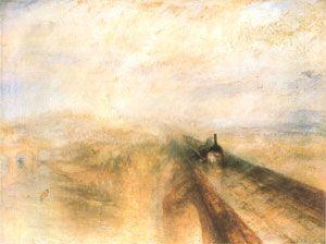 William Turner - Pluie, vapeur et vitesse,  le chemin de fer de la Great Western (1844)