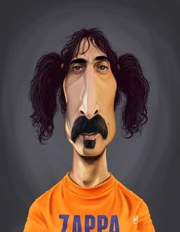 Frank Zappa by robart at zippi.co.uk art | decor | wall art | inspiration | caricature | home decor | idea | humor | gifts