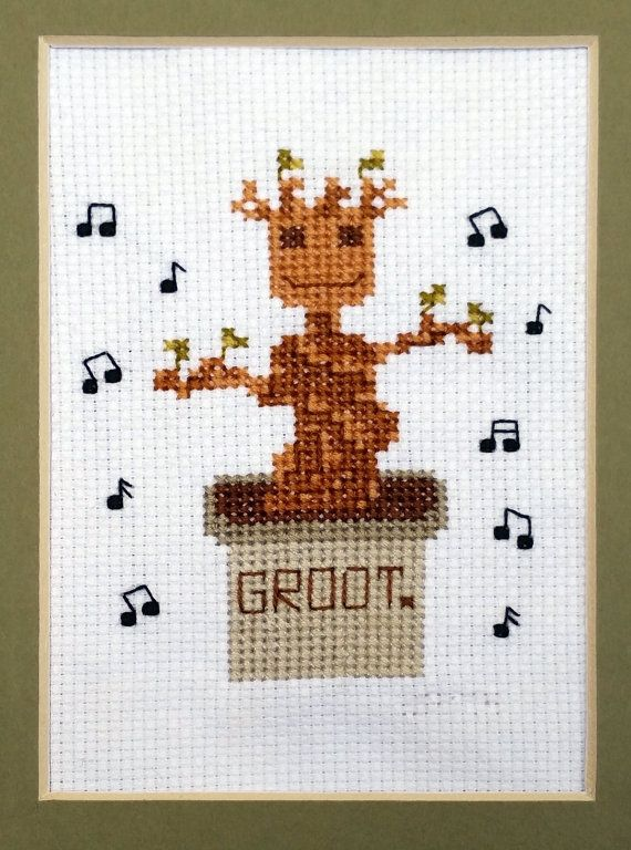 Dancing Baby Groot Guardians of the Galaxy Cross by EpicStitchery