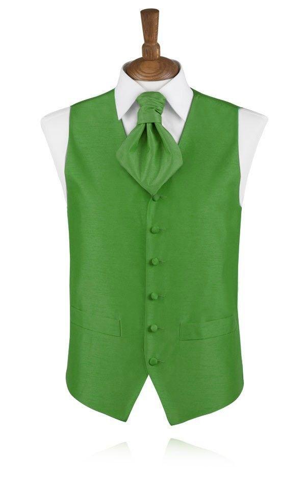 Helder groen poly dupion gilet