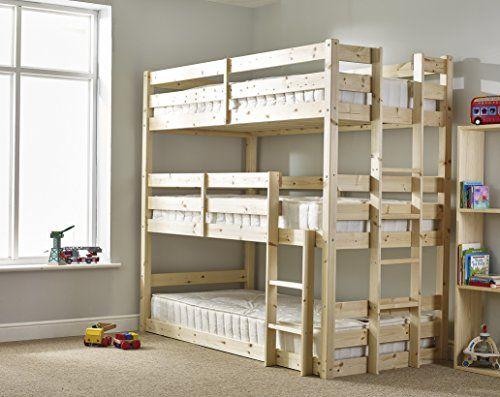 Three sleeper Bunkbed - 3ft Single Triple sleeper Bunk Beds