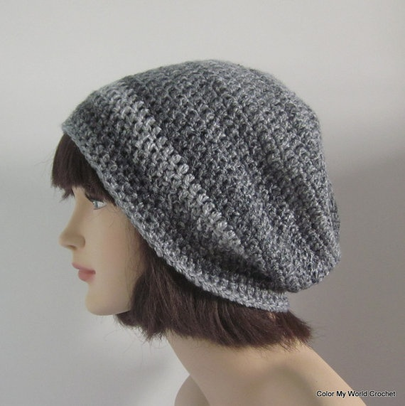 Slouchy Beanie  Womens Crochet Hat  Crochet by ColorMyWorldCrochet