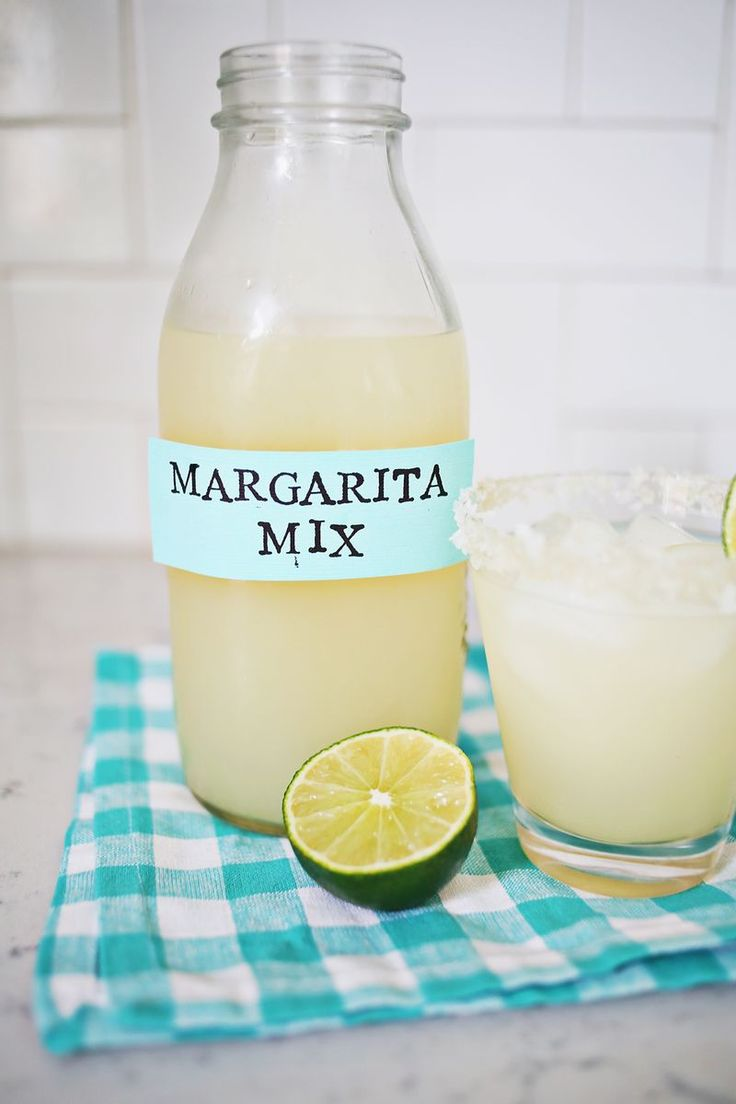 Homemade Margarita Mix - A Beautiful Mess